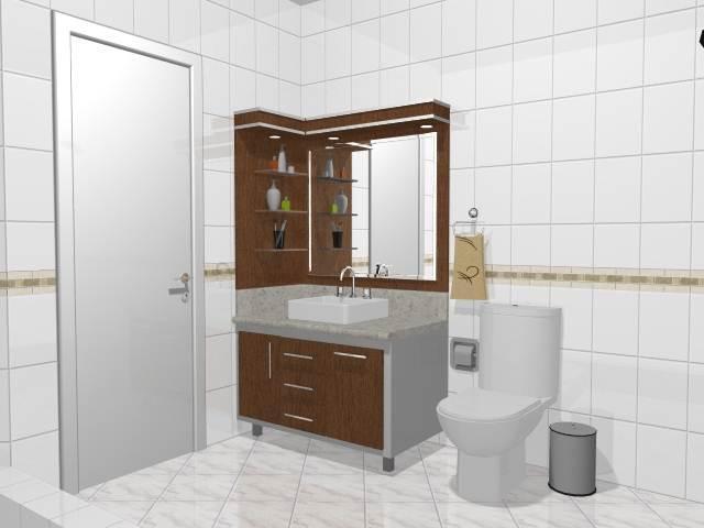 AS Móveis  Tudo em móveis sob medida -> Moveis Para Banheiro Pequeno Sob Medida